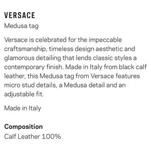 Versace Accessories - Versace - Medusa Purse Tag (Keychain)